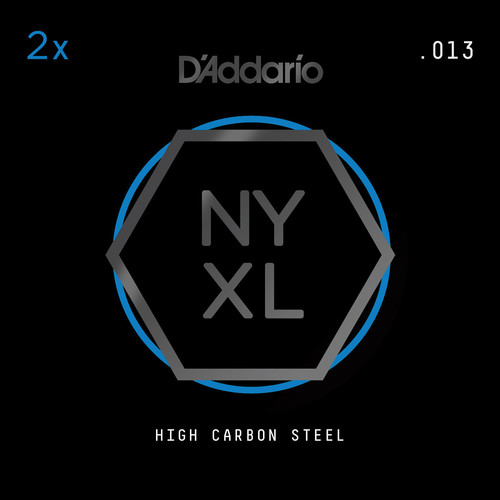 D'Addario NYXL High-Carbon Steel Single String for Electric Guitar (.013)