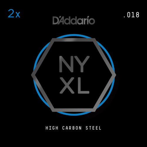 D'Addario NYXL High-Carbon Steel Single String for Electric Guitar (.018)