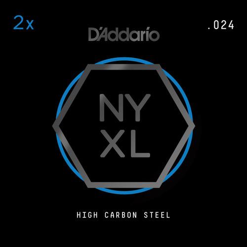 D'Addario NYXL High-Carbon Steel Single String for Electric Guitar (.024)