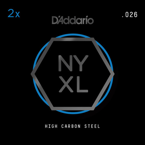 D'Addario NYXL High-Carbon Steel Single String for Electric Guitar (.026)