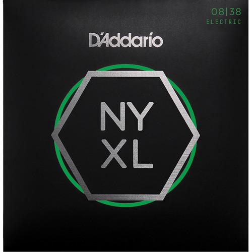 D'Addario NYXL0838 Extra Super Light NYXL Nickel Wound Electric Guitar Strings (6-String Set, 8 - 38)
