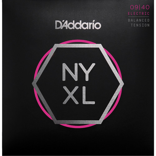 D'Addario NYXL0940BT Balanced Tension Super Light NYXL Nickel Wound Electric Guitar Strings (6-String Set, 9 - 40)