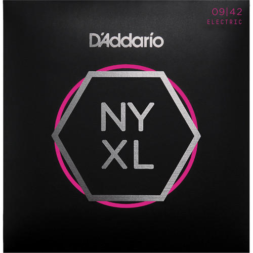 D'Addario NYXL0942 Super Light NYXL Nickel Wound Electric Guitar Strings (6-String Set, 9 - 42)