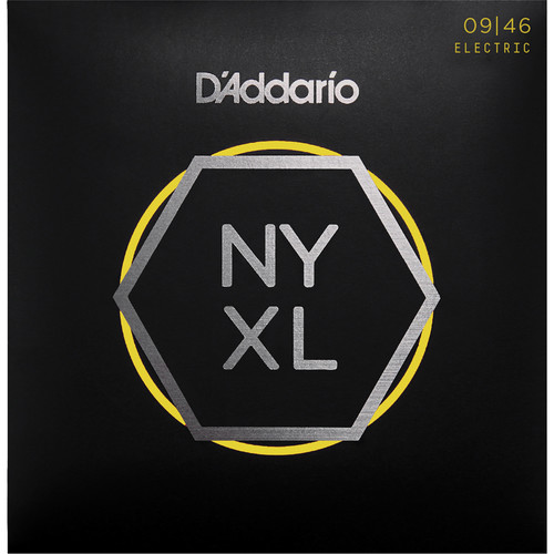 D'Addario NYXL0946 Super Light Top / Regular Bottom NYXL Nickel Wound Electric Guitar Strings (6-String Set, 9 - 46)