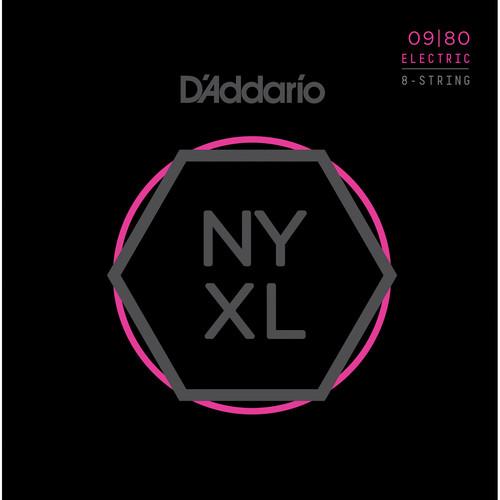 D'Addario NYXL0980 Super Light NYXL Nickel Wound Electric Guitar Strings (8-String Set, 9 - 80)