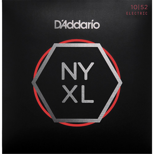 D'Addario NYXL1052 Light Top / Heavy Bottom NYXL Nickel Wound Electric Guitar Strings (6-String Set, 10 - 52)