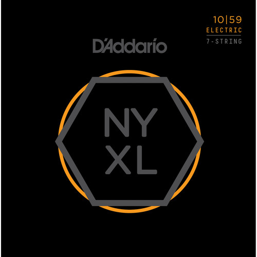 D'Addario NYXL1059 Regular Light NYXL Nickel Wound Electric Guitar Strings (7-String Set, 10 - 59)