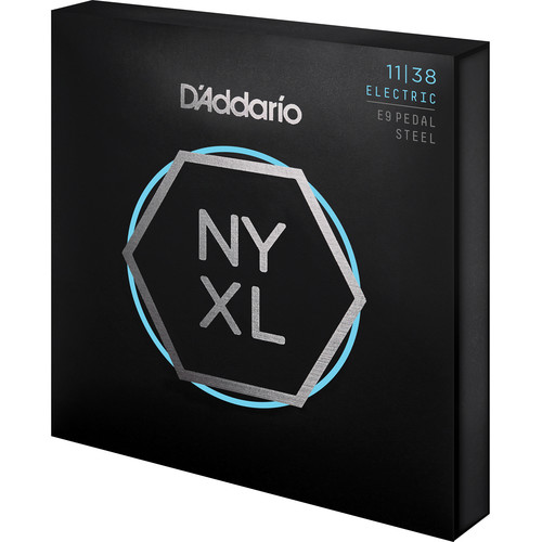 D'Addario NYXL1138PS Nickel Wound Regular Light Pedal Steel Strings, (10-String Set, 11-38)