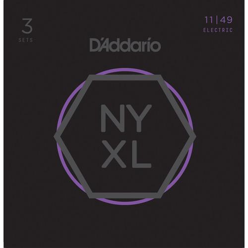 D'Addario NYXL1149-3P Medium NYXL Nickel Wound Multi-Pack Electric Guitar Strings (6-String Set, 11 - 49, 3-Pack)