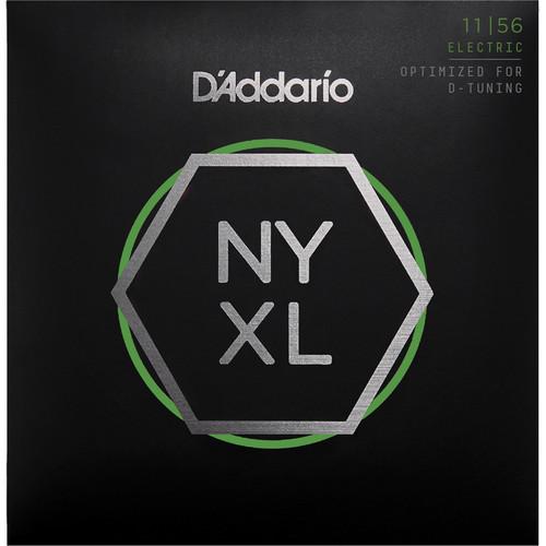 D'Addario NYXL1156 Medium Top / Extra-Heavy Bottom NYXL Nickel Wound Electric Guitar Strings (6-String Set, 11 - 56)