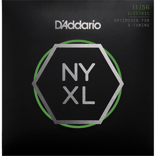 D'Addario NYXL1156 Medium Top / Extra-Heavy Bottom NYXL Nickel Wound Electric Guitar Strings (6-String Set, 11 - 56)