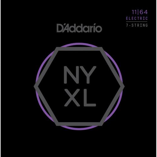 D'Addario NYXL1164 Medium NYXL Nickel Wound Electric Guitar Strings (7-String Set, 11 - 64)