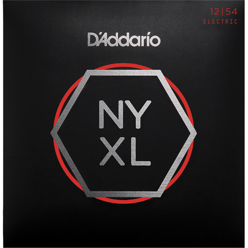 D'Addario NYXL1254 Heavy NYXL Nickel Wound Electric Guitar Strings (6-String Set, 12 - 54)