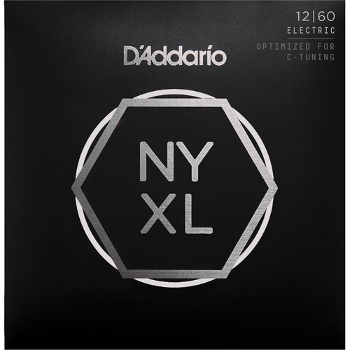D'Addario NYXL1260 Extra Heavy NYXL Nickel Wound Electric Guitar Strings (6-String Set, 12 - 60)