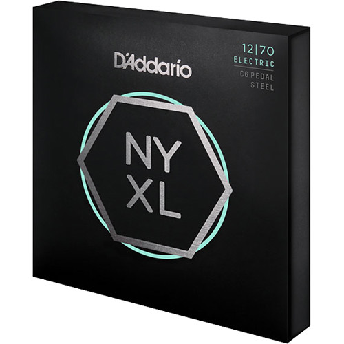 D'Addario NYXL1270PS Nickel Wound Custom Medium Pedal Steel Strings, (11-String Set, 12-70)