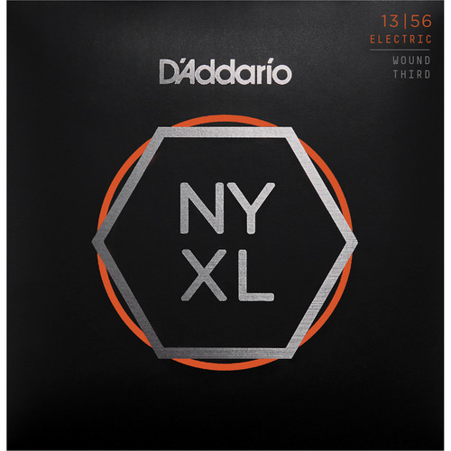 D'Addario NYXL1356W Medium Wound 3rd NYXL Nickel Wound Electric Guitar Strings (6-String Set, 13 - 56)