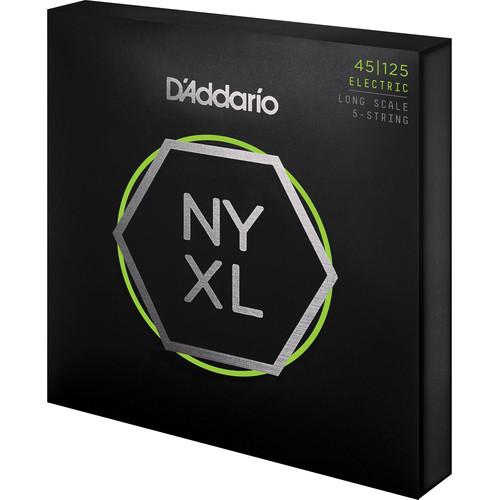 D'Addario NYXL45125 Light Top/Medium Bottom Electric Bass Strings (5-String Set, Long Scale, 12-125)