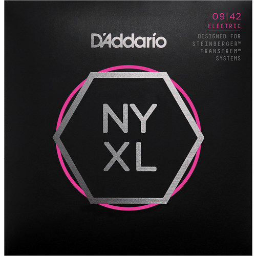 D'Addario NYXLS0942 Super Light Nickel Wound Double Ball-End Electric Guitar Strings (6-String Set, 9 - 42)