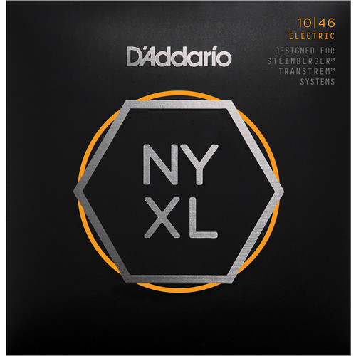 D'Addario NYXLS1046 Regular Light Nickel Wound Double Ball-End Electric Guitar Strings (6-String Set, 10 - 46)