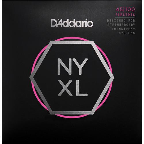 D'Addario NYXLS45100 Regular Light Electric Bass Strings (4-String Set, Double Ball End, Long Scale, 45-100)