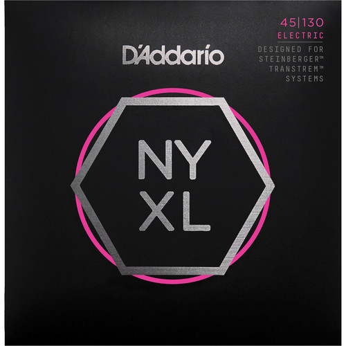 D'Addario NYXLS45130 Medium Electric Bass Strings (5-String Set, Double Ball End, Long Scale, 45-130)