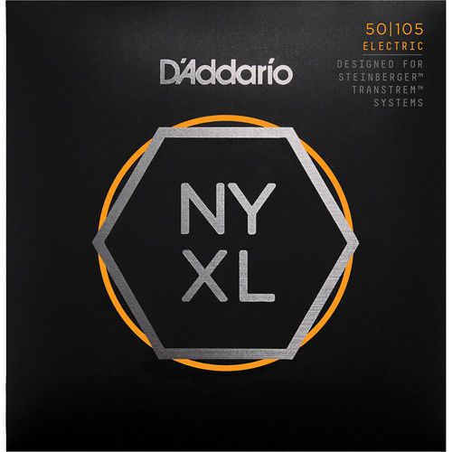D'Addario NYXLS50105 Regular Light Electric Bass Strings (4-String Set, Double Ball End, Long Scale, 50-105)