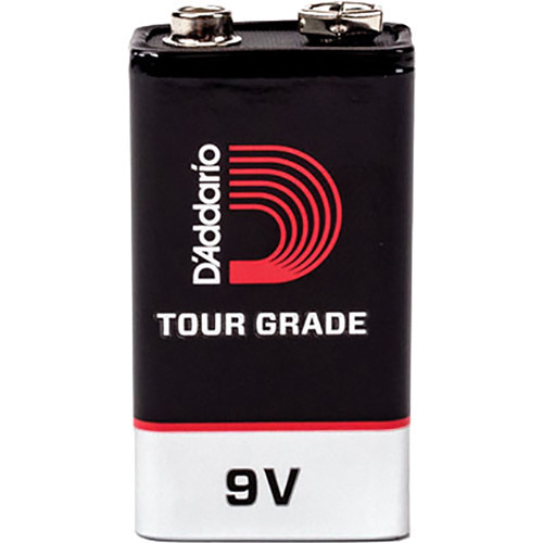 D'Addario Tour-Grade 9V Alkaline Batteries (5-Pack)