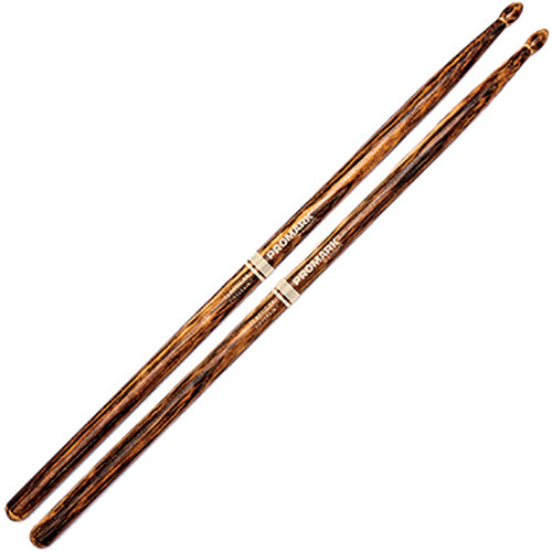 "D'Addario Classic 5A .551"" FireGrain Wood Oval Tip Drumsticks (1 Pair, 16"")"