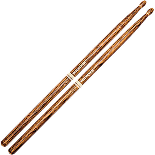 "D'Addario Classic 5B .590"" FireGrain Wood Oval Tip Drumstick (1 Pair, 16"")"