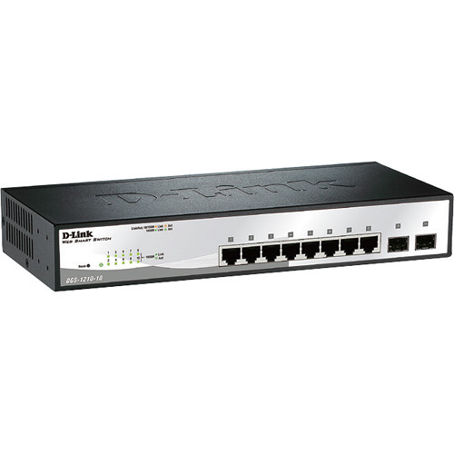 D-Link DGS-1210 Series Smart Managed 10-Port GB Switch with 2 GB SFP Ports