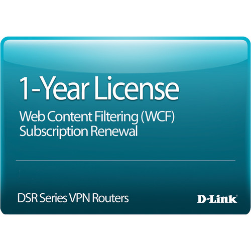 D-Link DSR-1000AC Web Content Filtering License, 12-Months