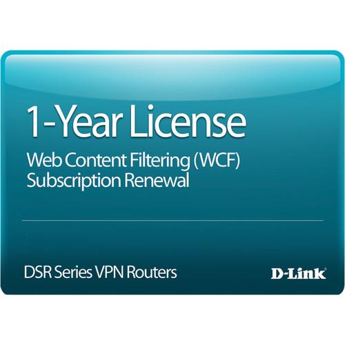 D-Link DSR-150 Web Content Filtering License, 12-Months