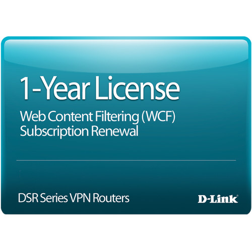 D-Link 1-Year Web Content Filtering Subscription License for DSR-250 Router