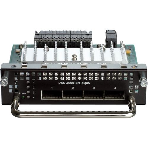 D-Link 4-Port 40G QSFP+ Expansion Module for DXS-3600