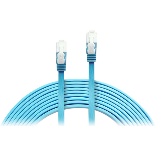 D-Link RJ45 to RJ45 Cat6 Ethernet Patch Flat Cable (10', 3-Pack, Blue)