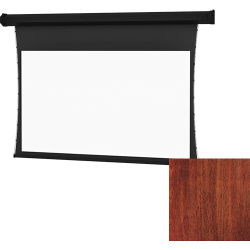 "Da-Lite Tensioned Cosmopolitan Electrol 52 x 92"" 16:9 Screen with HD Progressive 1.1 Perforated Surface (Mahogany Veneer, 120V)"