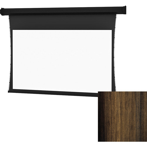 "Da-Lite Tensioned Cosmopolitan Electrol 58 x 104"" 16:9 Screen with HD Progressive 1.1 Perforated Surface (Heritage Walnut Veneer, 120V)"