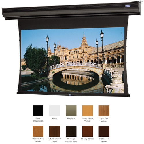 "Da-Lite 21861ELHWV Tensioned Contour Electrol 69 x 110"" Motorized Screen (220V)"