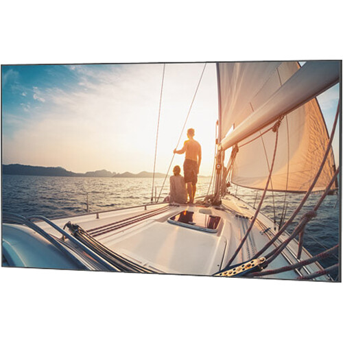 "Da-Lite 23946 81.5 x 192"" UTB Contour Fixed Frame Screen (Da-Mat, Acid Etched Black Frame)"