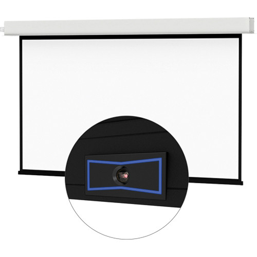 "Da-Lite 24103ELSM ViewShare Tensioned Advantage Electrol 57.5 x 92"" Ceiling-Recessed Motorized Screen (220V)"
