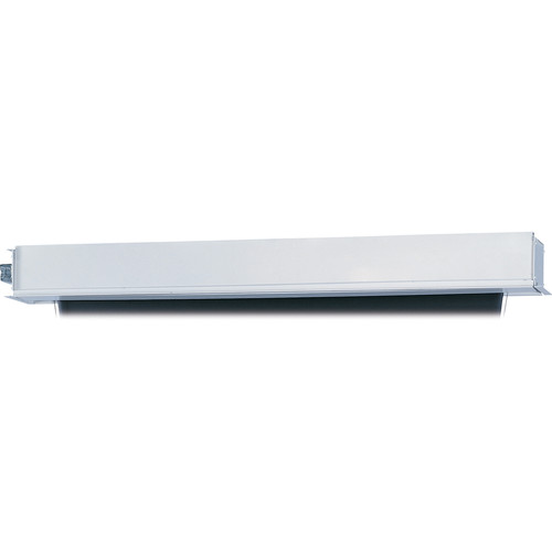 """Da-Lite 24712BLSR Tensioned Advantage Electrol 57.5 x 92"""" Ceiling-Recessed Motorized Screen (120V, Box Only)"""