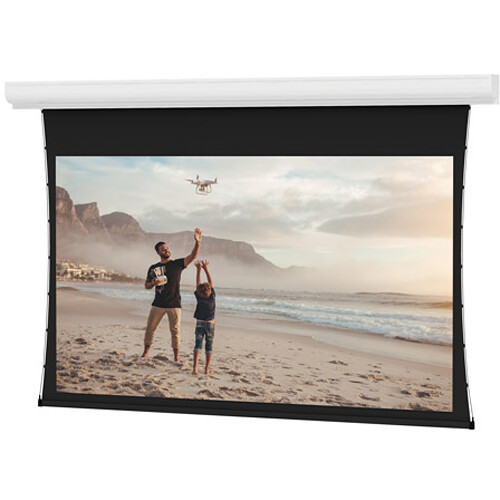 "Da-Lite 24744ELS Tensioned Contour Electrol 57.5 x 92"" Motorized Screen (220V)"