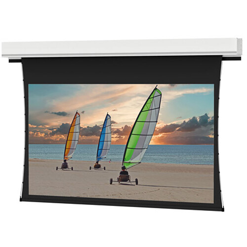 "Da-Lite 24856I Tensioned Advantage Deluxe Electrol 50 x 80"" Ceiling-Recessed Motorized Screen (120V)"