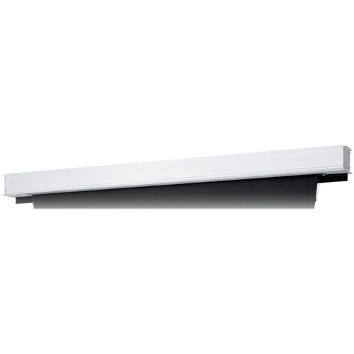 "Da-Lite 24861BI Tensioned Advantage Deluxe Electrol 72.5 x 116"" Ceiling-Recessed Motorized Screen (120V, Box Only)"