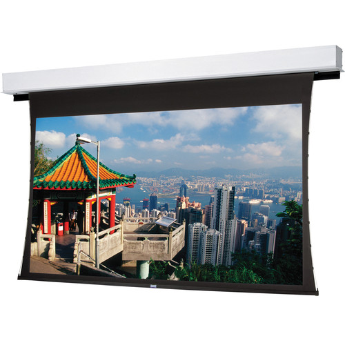 "Da-Lite 24861R Tensioned Advantage Deluxe Electrol 72.5 x 116"" Ceiling-Recessed Motorized Screen (120V)"