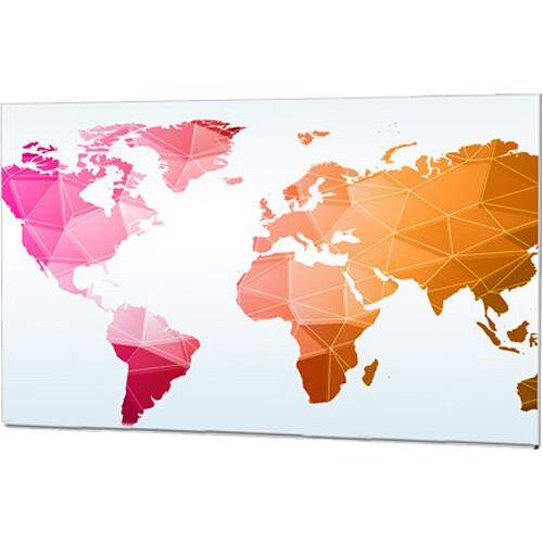 "Da-Lite IDEA Panoramic 16:9 HDTV Format Screen with Full Length Marker Tray (50 x 89"")"