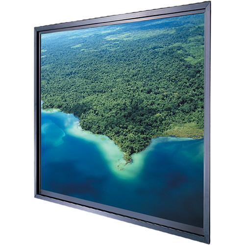 """Da-Lite Polacoat Da-Plex In-Wall Square Format Rear Projection Diffusion Screen (50 x 50 x 0.25"""", Base Frame)"""