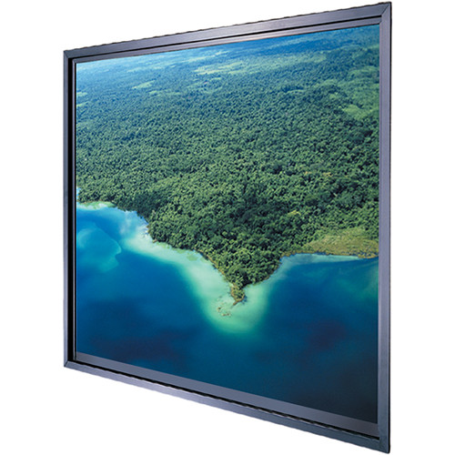 "Da-Lite Polacoat Da-Plex In-Wall Video Format Rear Projection Diffusion Screen (40.25 x 53.75 x 0.25"", Base Frame)"