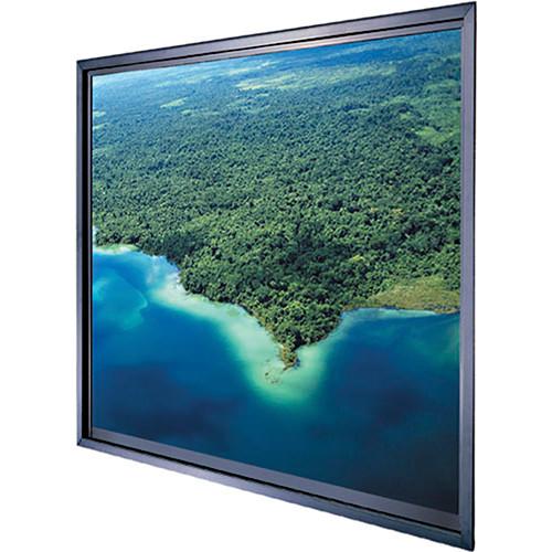 """Da-Lite Polacoat Da-Glas In-Wall Square Format Rear Projection Diffusion Screen (50 x 50 x 0.25"""", Base Frame)"""