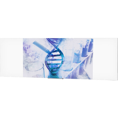 "Da-Lite IDEA Panoramic 16:10 Wide Format Screen with 24"" Marker Tray (46 x 168"")"